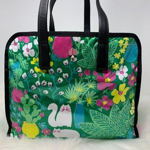 Kate spade morley garden posy cat large tote green